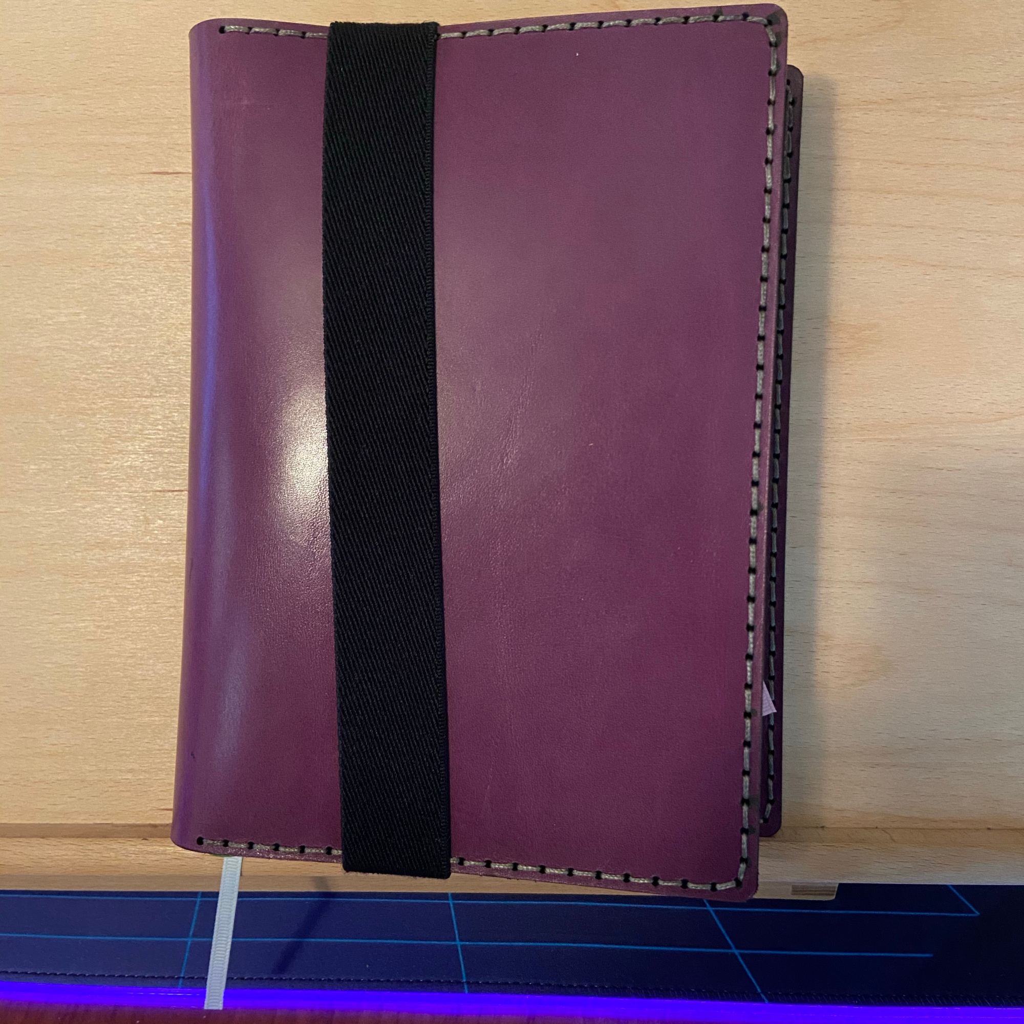 Galen leather purple A5 journal cover